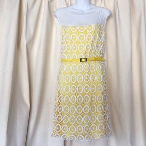 Yellow laced  women's dress